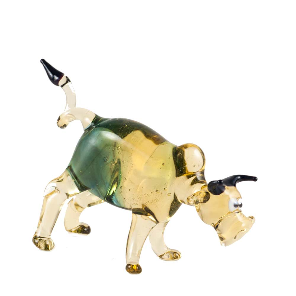 Glass Bull Figurine