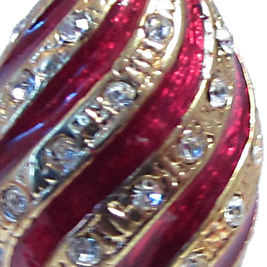 Faberge Pendant Twisted Red