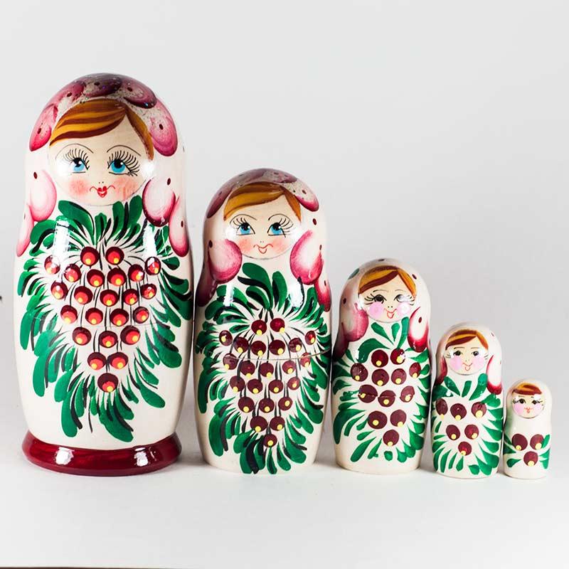 Domovoi HANDMADE Nesting Dolls for Kids Russian Brownie