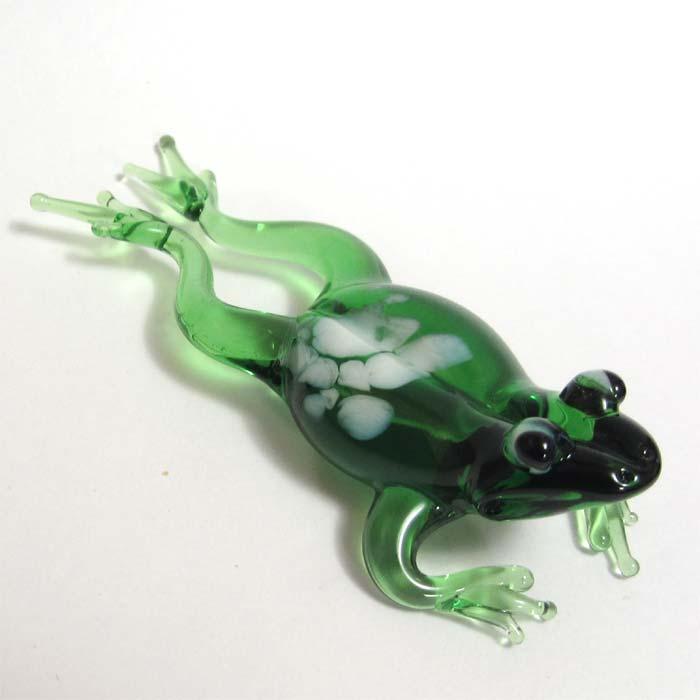 Glass Frog Figurine