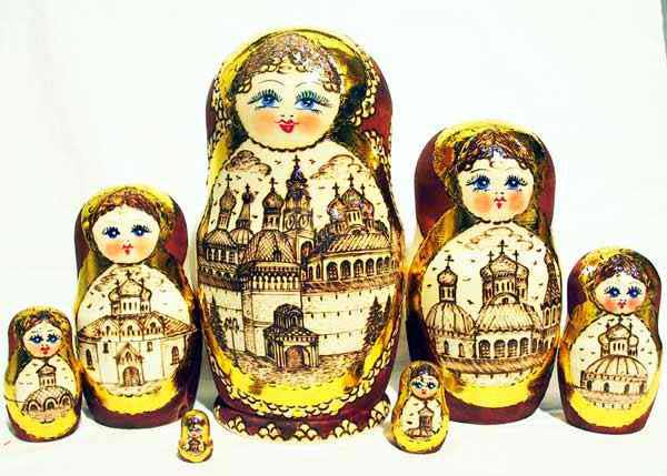 Burnt nesting doll