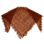 Light brown Orenburg shawl