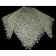 Pale green Orenburg shawl