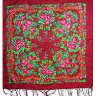 Russian Povlovo Posad woolen scarf
