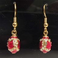 Faberge Earrings Red, fig. 1