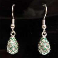 Faberge Earrings Crystals Green, fig. 1