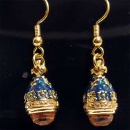 Earrings Amber with Blue, fig. 1