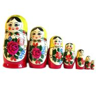 Semenov Matryoshka Doll 7 Pieces Set, fig. 1