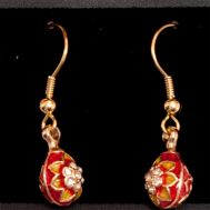 Sunflower Faberge Earrings, fig. 1