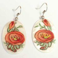 Red Flower Earrings, fig. 1