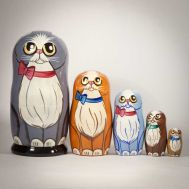 Nesting Dolls Blue Cat