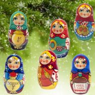 Set of Ornaments Matryoshka Style, fig. 1