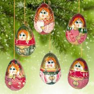 Wooden Christmas Ornaments Set Matryoshka, fig. 1