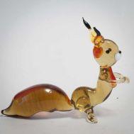 Glass Squirrel Figurine