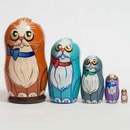 Cats Russian Nesting Doll, fig. 1