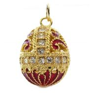 Faberge Pendant Empire Crown Red, fig. 1