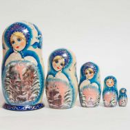 Blue Matryoshka Winter Scenes, fig. 1