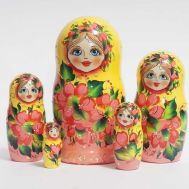 Matryoshka Yellow with Poppies, fig. 1