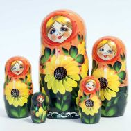 Matryoshka Doll Sunflowers, fig. 1