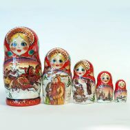 Matryoshka Russian Winter Troyka, fig. 1