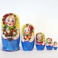 Nesting Doll Girls with Flowers, fig. 1