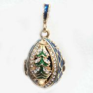 Christmas Tree Blue Pendant, fig. 1