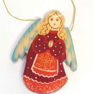 Angel in Red Coat Ornament, fig. 1