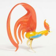 Glass Rooster with Crimson Tale, fig. 1