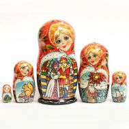 Matryoshka about Tsar Saltan
