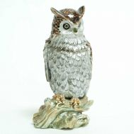 Faberge Jewelry Box Owl, fig. 1