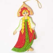 Wood Ornament Dancing Girl, fig. 1
