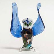 Glass Blue Owl Figurine, fig. 1
