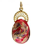 Faberge Red Pendant Horseshoe, fig. 1