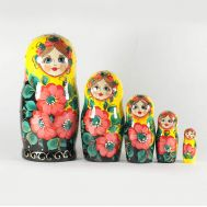 Matryoshka Pink with Poppies