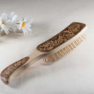 Wood Hair Brush Roses, fig. 1