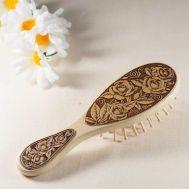 Wood Brush for Hair Roses, fig. 1