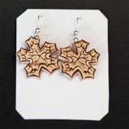 Birch Bark Earrings Marple Leaves, fig. 1