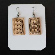 Birch Bark Earrings Geometrial, fig. 1