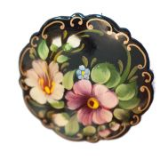 Brooch Two Pansies on Black, fig. 1