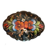 Brooch Two Bright Pansies on Black, fig. 1