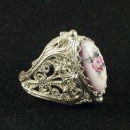 Enamel Ring Sweet Lady Pink, fig. 1