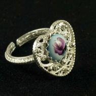 Enamel Ring Heart Blue, fig. 1