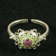 Enamel Ring Strawberries Green, fig. 1