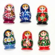 Assorted Matryoshka Magnets Set, fig. 1