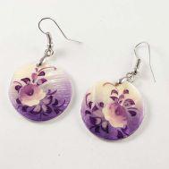 White Rose Earrings, fig. 1