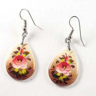 Pink Rose Earrings, fig. 1
