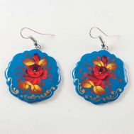 Earrings Rose on Blue, fig. 1