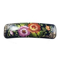 Hair-slide Bright Flowers on Black, fig. 1