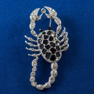 Faberge Style Brooch Scorpion, fig. 1