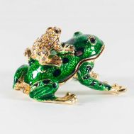 Faberge Jewelry Box Two Frogs, fig. 1